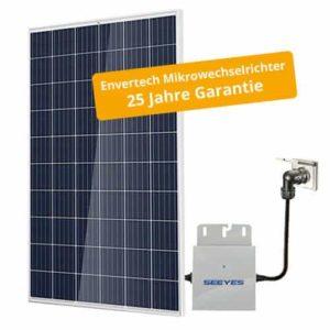 PrimeSolar Photovoltaikanlage 250 Wp, mono inkl. Modulwechselrichter