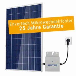 240 Wp, poly Plug-and-Play Solaranlage inkl. Wechselrichter + Flachdach-Unterkonstruktion
