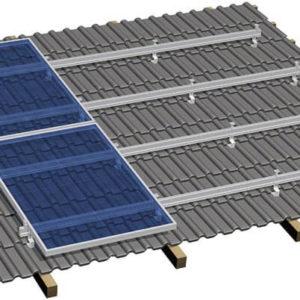 E2 Erweiterungs-Kit für das Schrägdachsystem für 2 Solarmodule