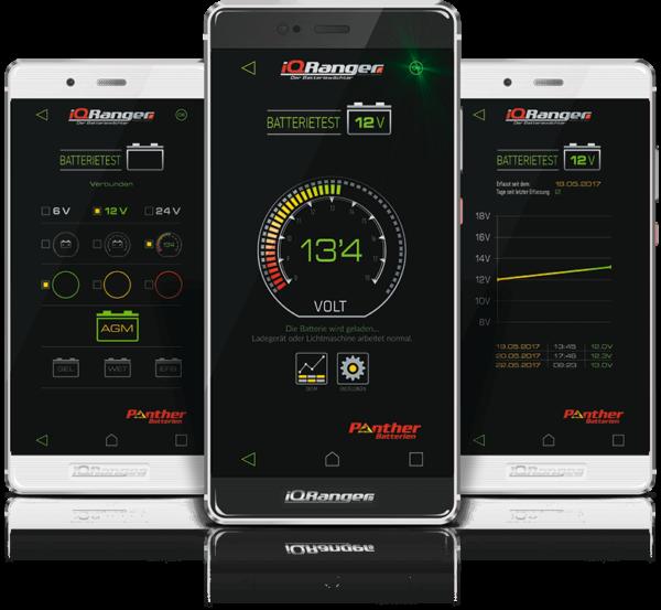 Batteriewächter für handelsübliche Batterien mit einer Spannung von 6,12 oder 24 V Gleichstrom
