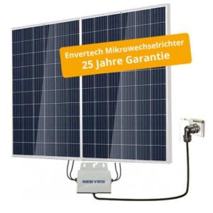 PrimeSolar Photovoltaikanlage 500 Wp, mono inkl. Modulwechselrichter