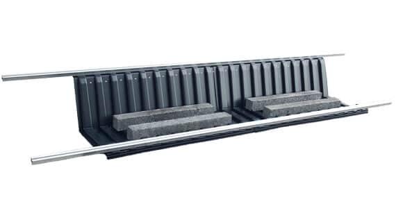 VarioTwin Large 27° Flachdachmontagesystem für gerahmte und Glas-Glas Solarmodule