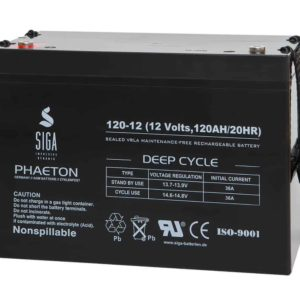 SIGA PHAETON AGM Deep Cycle Batterie S120-12 12V 120Ah