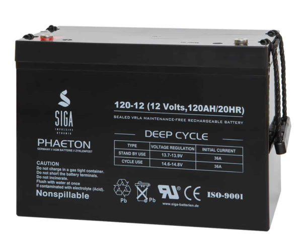SIGA PHAETON AGM Deep Cycle Batterie S120-12 12V 120Ah