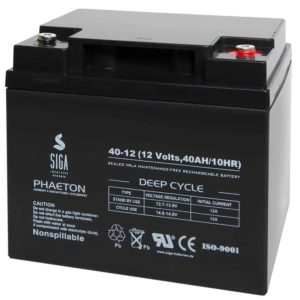 SIGA PHAETON AGM Deep Cycle Batterie S40-12 12V 40Ah