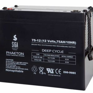 SIGA PHAETON AGM Deep Cycle Batterie S75-12 12V 75Ah