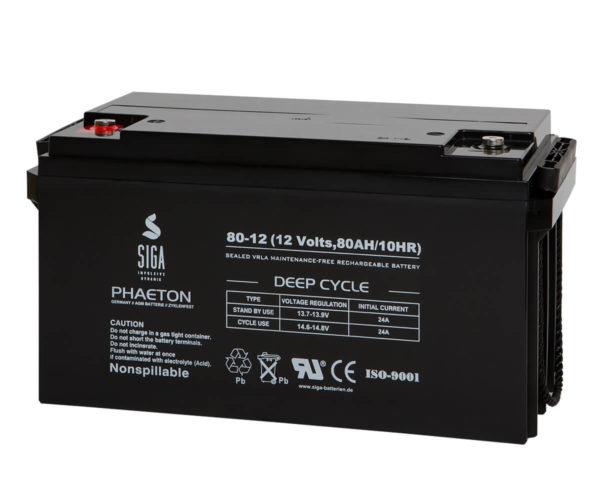 SIGA PHAETON AGM Deep Cycle Batterie S80-12 12V 80Ah