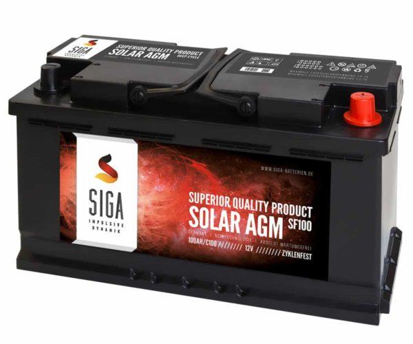 SIGA SOLAR AGM Batterie SF100 12V 100Ah
